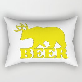 "Funny ""Beer"" Design T-Shirt Rectangular Pillow"