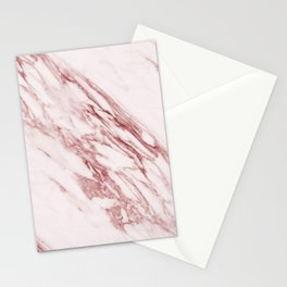 Ripples of Rose and Cream Marble Stationery Cards