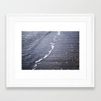 salt water Framed Art Prints featuring Salt water by Emelie Johansson
