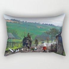 1920 - road blockade Rectangular Pillow
