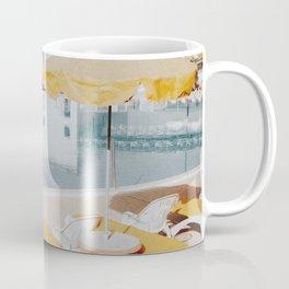 vintage summer poolside Coffee Mug