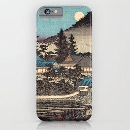Night View of An'yô-ji Temple at Maruyama by Hasegawa Sadanobu - Japanese Vintage Ukiyo-e Woodblock iPhone Case