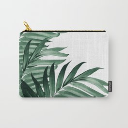 Palm Leaves Tropical Green Vibes #3 #tropical #decor #art #society6 Carry-All Pouch