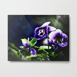 Violet Johnny Jump Ups And Stars Metal Print