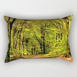 Forest Walk in Spring Rectangular Pillow