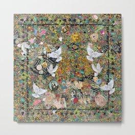 Leopard confetti world peace Metal Print