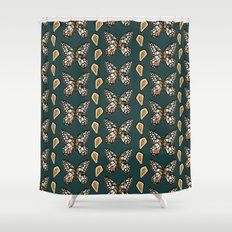Mary's Butterfly Garden Shower Curtain
