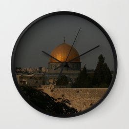 Dome of the Rock - Kipat Hasela - Qubbat As-Sakhrah - Jerusalem Wall Clock