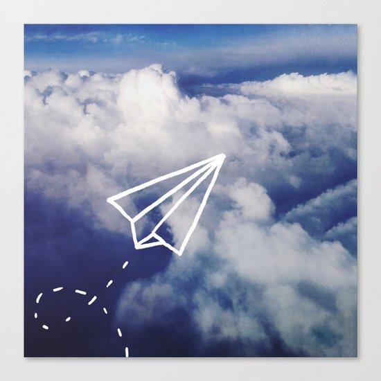 Paper Plane Canvas Print