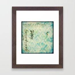 Grunge Damask Framed Art Print