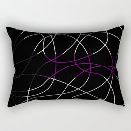 Abstract Threads – Demisexual Pride Flag Rectangular Pillow