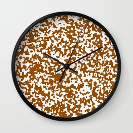 Small Spots - White and Brown Wall Clock