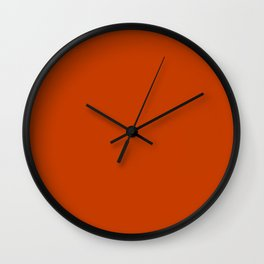 Rusty Burnt Orange Solid Rich Rust Colour Wall Clock