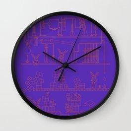 Christmas Factory Wall Clock