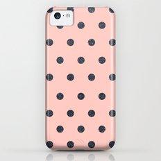 Black Polka Dots on Pink Slim Case iPhone 5c