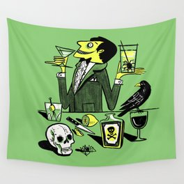 Drinks With The Mad Scientist Next Door Wall Tapestry