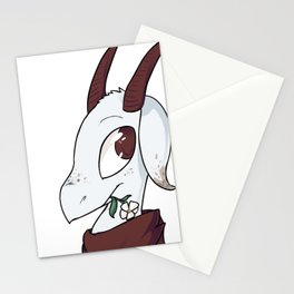 Goat with a flower Stationery Cards