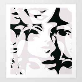 Hidden Faces Art Print