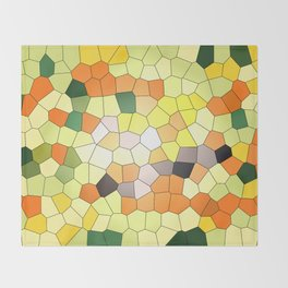 Mosaik orange yellow pattern Throw Blanket