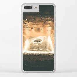 Spark Art Clear iPhone Case