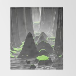 Foggy Canyon Walls Throw Blanket