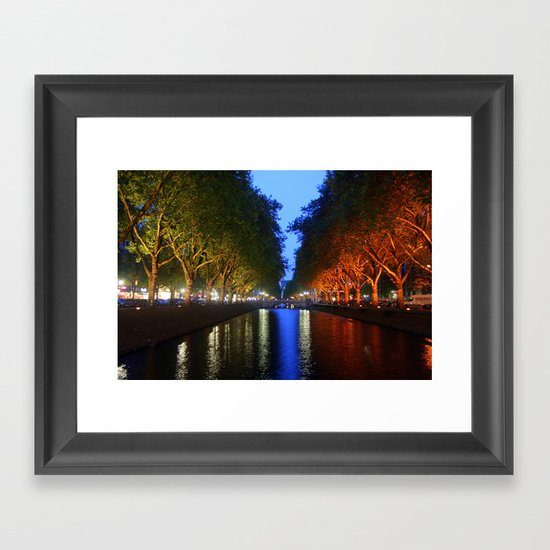 Colorful Canal Framed Art Print