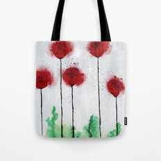 Red Wildflowers Tote Bag
