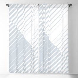 gradient stripes triangles in ice gray and white Blackout Curtain