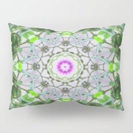 Purple Wildflower Kaleidoscope Art 8 Pillow Sham