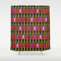 xoxo Shower Curtains featuring XOXO by RCM Prints