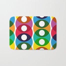 Geometric Pattern #64 (colorful bubbles) Bath Mat