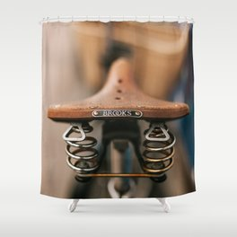 Brooks Bike Shower Curtain