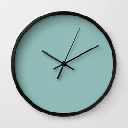 Ice Blue Solid Wall Clock