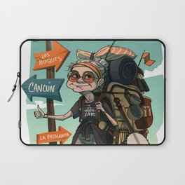 It is never too late to travel around the world Laptop Sleeve