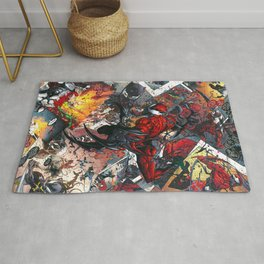 Carnage Comic2Canvas Comic Book Art Collage Rug