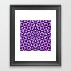Purple Garden Maze Framed Art Print