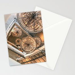 Abstract Perspective // Natural Lighting Ornamental Chandelier Stairway View Stationery Cards