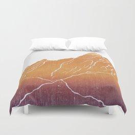 Colorado Mountain Ranges_Boulder Flat Irons Duvet Cover