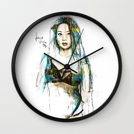 Lucy Black Eyes Wall Clock