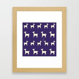 ALPACAS IN LOVE Framed Art Print