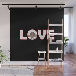 """""""Love sign"""" with sloth head Wall Mural"""