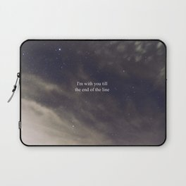 Till the End of the Line Laptop Sleeve