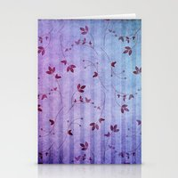 floral pattern Stationery Cards featuring FLORAL PATTERN by INA FineArt