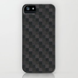 Rustic Mauve Pink Brown and Black Patchwork iPhone Case