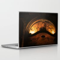 kafka Laptop & iPad Skins featuring Cafe Kafka by Bella Blue Photography