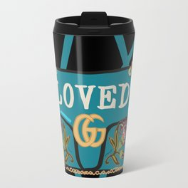 GG Loved Blue Velvet Bag Travel Mug