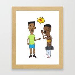 the handshake Framed Art Print
