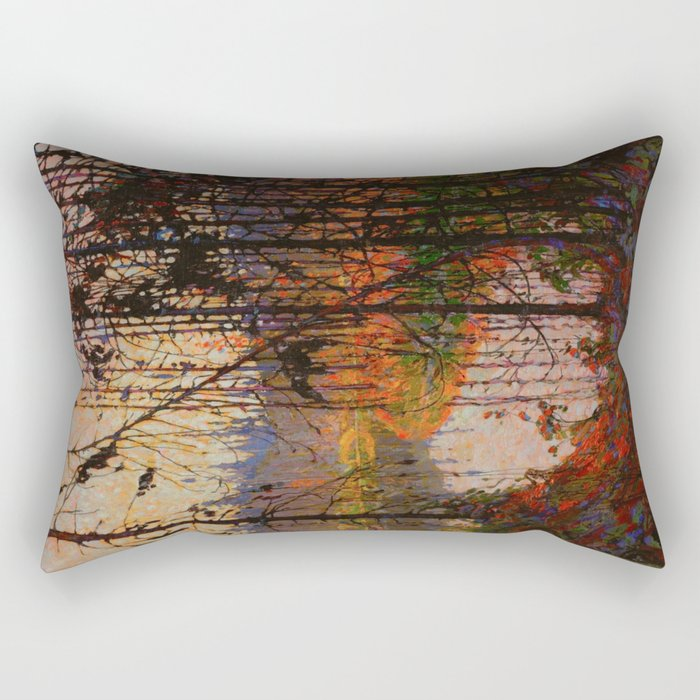 Tom Thomson Northern River 1915 Canadian Landscape Artist Rectangular Pillow
