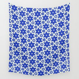 BLUE STARS Wall Tapestry