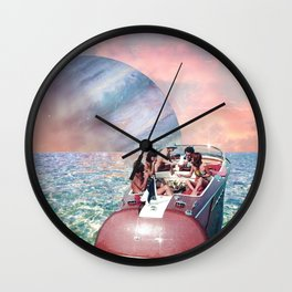 Friends in High Places Wall Clock